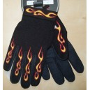Gants moto flaming