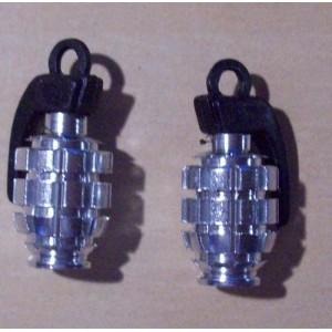 Bouchon de valve grenade chrome