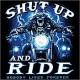 Sweat à capuche zippé shut up and ride