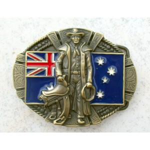 Boucle de ceinture cowboy australien