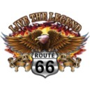 Sweat à capuche zippé eagle road 66