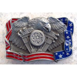 Boucle de ceinture patriotic biker