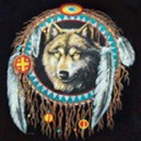 T shirt dreamcatcher wolf.