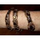 Bracelet snake pierres noires