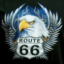 Logo american highway road 66.