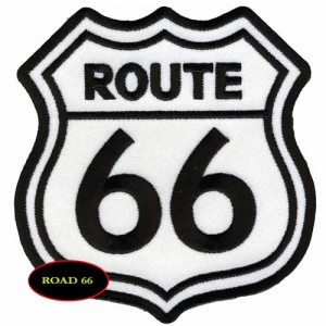 Patch,  route 66.blanc