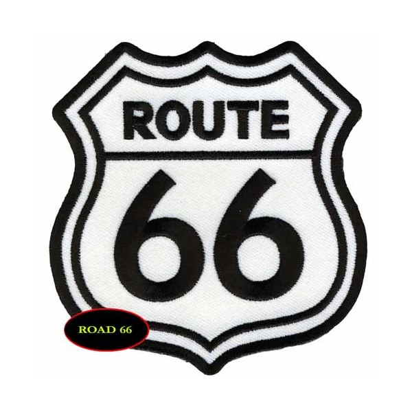 Accessoires de Bikers - Page 2 Patch-route-66blanc-accessoires-motard