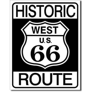 Plaque metal decorative Historic route 66