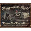 Plaque métal décorative vintage evil racing