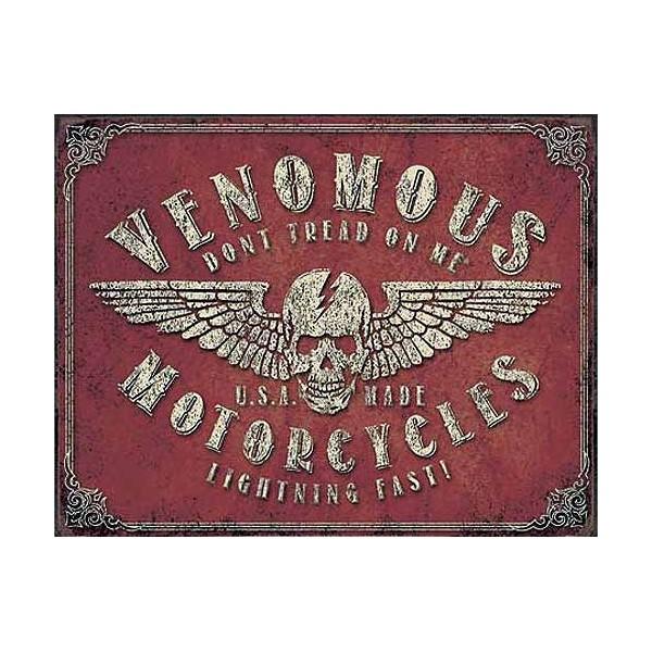 plaque metal decorative venomous motorcycles plaque metal decorative. Black Bedroom Furniture Sets. Home Design Ideas
