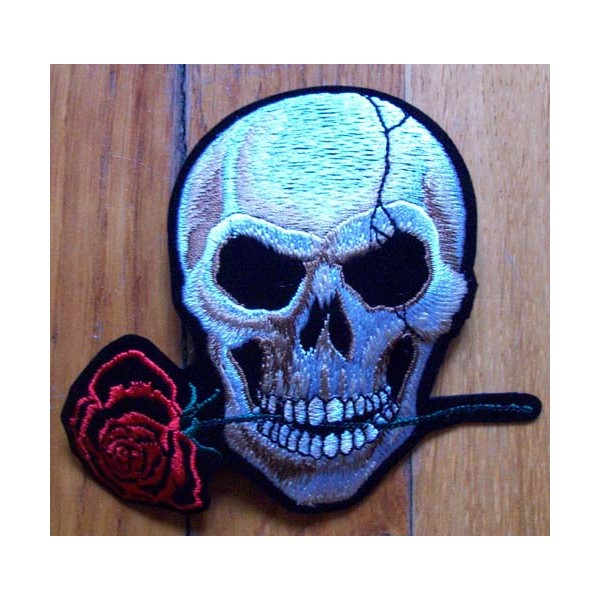 Accessoires de Bikers - Page 2 Patch-skull-and-roses-accessoires-motard