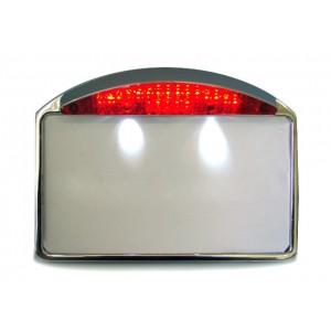 Support de plaque horizontal avec éclairage harley et custom