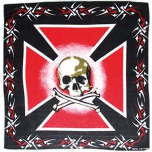 Bandana red cross.