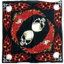 Bandana flaming skulls.