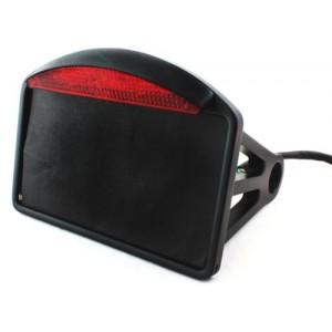 Support de plaque noir horizontal avec eclairage harley et custom