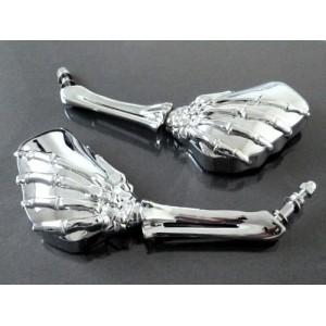 Retroviseurs main squelette pour Harley et custom