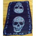 foulard blanc, 3 skulls