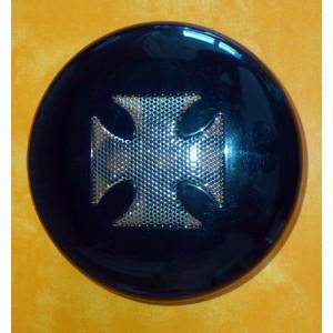 Cache klaxon noir croix de malte