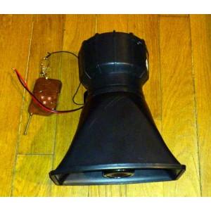 Sirene americaine 4 tons electronique avec telecommande