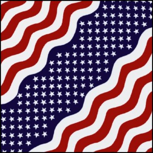 Bandana star strip us flag