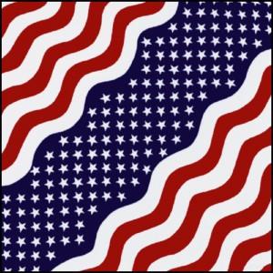 Bandana star strip us flag