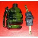 Grenade motorcycle disc lock