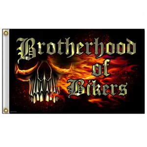 Drapeaux Brotherhood of Bikers.