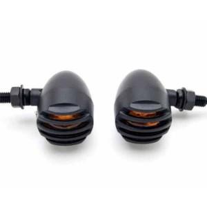 Clignotants bullet noir avec sa grille