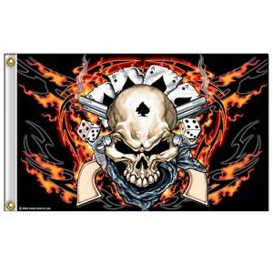 Drapeaux Dead Man Skull.