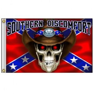 Drapeaux Southern Discomfort Skull.