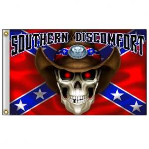 Drapeaux Southern Discomfort Skull.