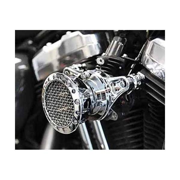 filtre a air black spike accessoires custom pieces pour harley articles biker. Black Bedroom Furniture Sets. Home Design Ideas