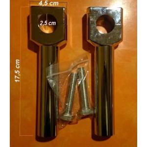 Risers droit en aluminium chromé