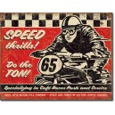 Plaque metal decorative Speed thrills