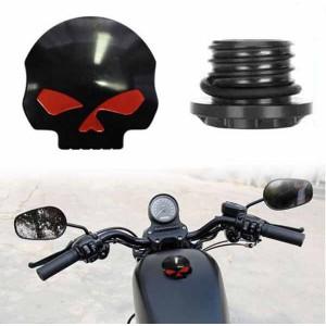 Bouchon de réservoir skull harley noir