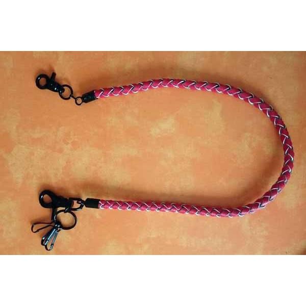 Laniere portefeuille cuir rouge en vente dans votre boutique discount - Laniere en cuir ...