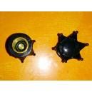 Bouchon de valve couronne argent