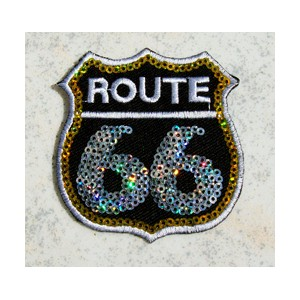 Patch,écusson route 66 strass.