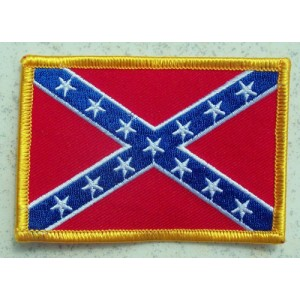 Patch, confederate flag.