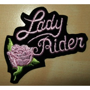Patch, écusson lady rider pink.