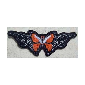 Patch,écusson orange butterfly.