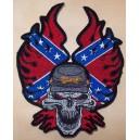 Patch,écusson confédére, tête de mort grand format