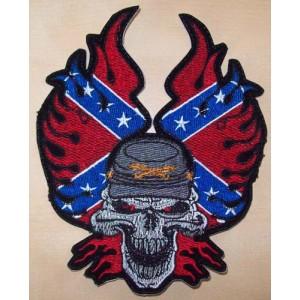Patch, confédére, tête de mort.