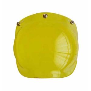 Ecran bulle couleur jaune pour casque jet.