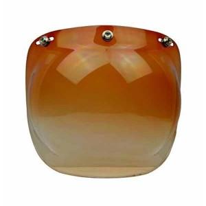 Ecran bulle couleur marron dégradé pour casque jet.