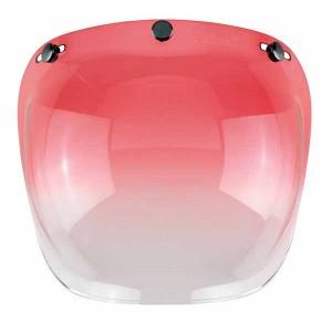 Ecran bulle couleur rouge dégradé pour casque jet.