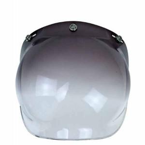 Ecran bulle couleur noir dégradé pour casque jet.