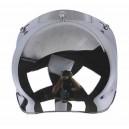 Ecran bulle couleur chrome pour casque jet.