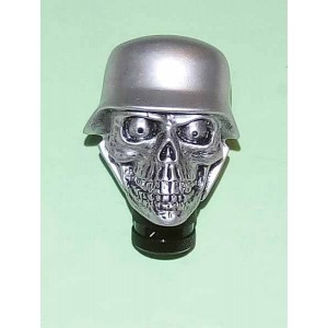 Pommeau de levier de vitesses skull biker silver