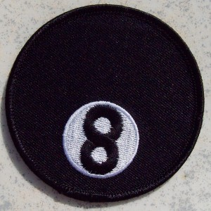 Patch, écusson boule 8.